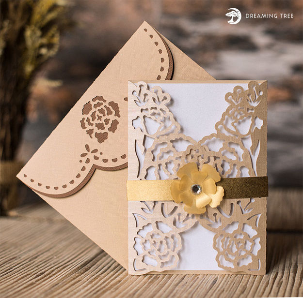 Ivory Floral Card SVG