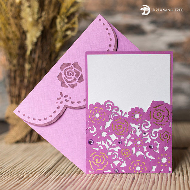 Picture of Amethyst Floral Card SVG