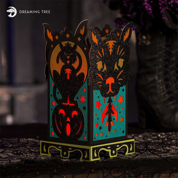 Halloween Cat Lantern Luminary