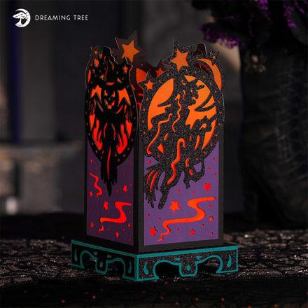 Halloween Witch Lantern SVG