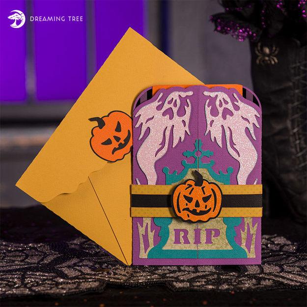 Halloween Jack-O-Lantern RIP Shudder Shutter Card