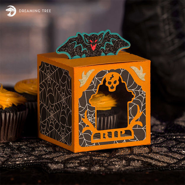 Picture of Halloween Cupcake Box SVG