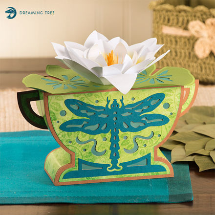 Water Lily Dragonfly Luminary