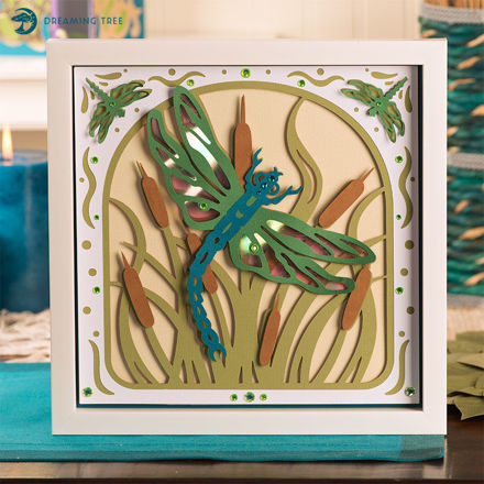 Dragonfly Paper Sculpture SVG