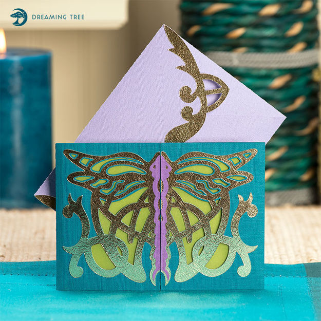 Dragonfly Gatefold Card SVG