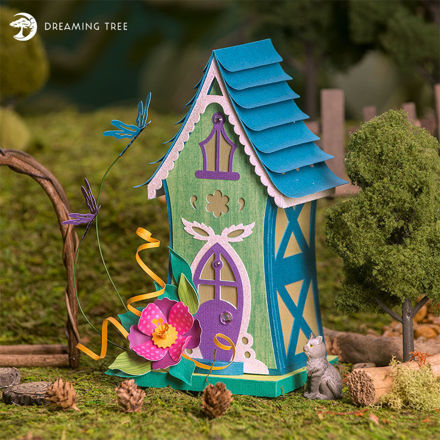 Picture of Dragonfly Fairy House SVG