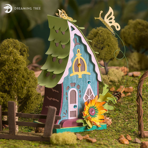 Picture of Butterfly Fairy House SVG