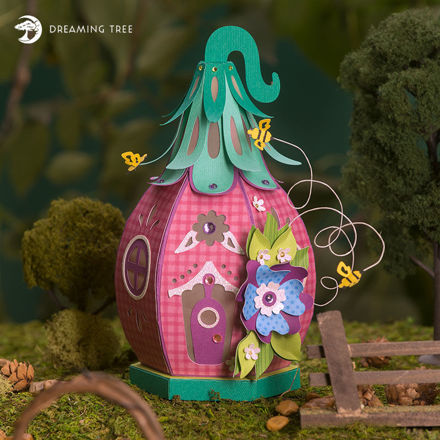 Picture of Honey Bee Fairy House SVG