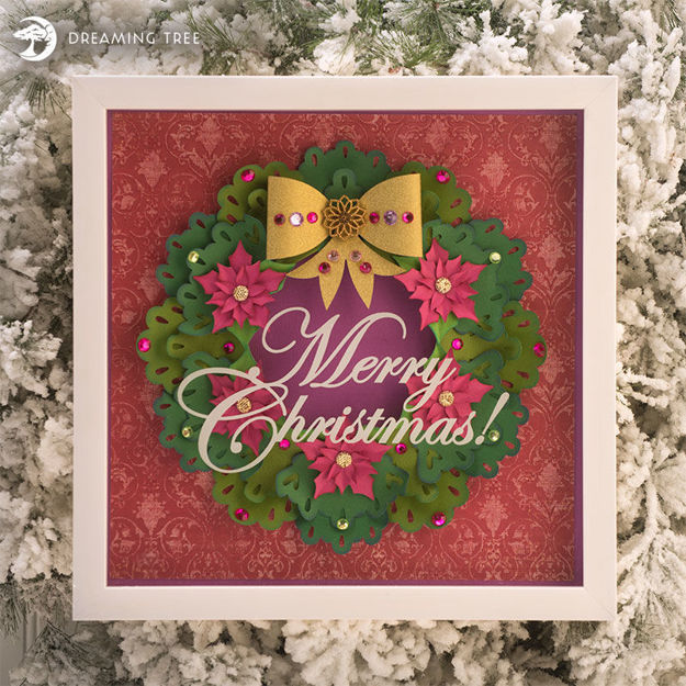 Picture of Christmas Wreath Paper Sculpture SVG
