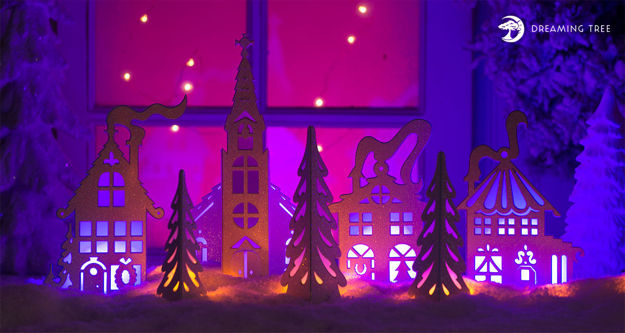Picture of Christmas Mantel Village SVG