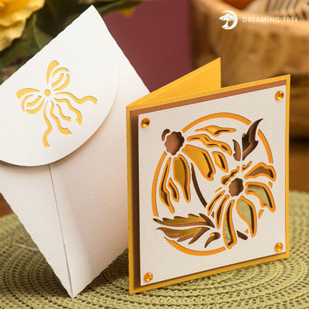 Picture of Yellow Floral Card SVG