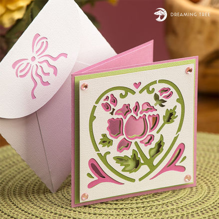 Picture of Pink Floral Card SVG