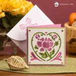 Pink Floral Card SVG