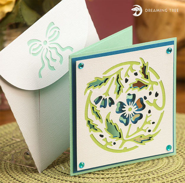 Picture of Blue Floral Card SVG