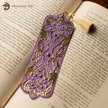 Floral Bookmark (Free SVG)