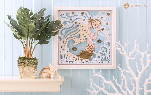 Mermaid Paper Sculpture SVG