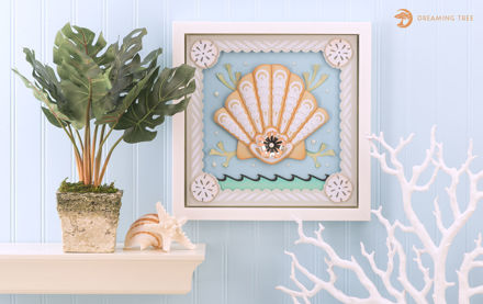 Picture of Seashell Paper Sculpture SVG