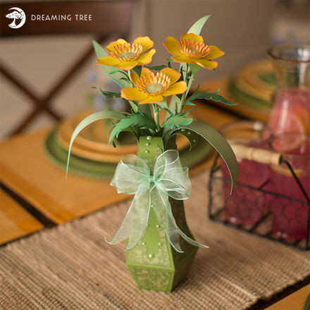 Buttercup Flower With Vase SVG