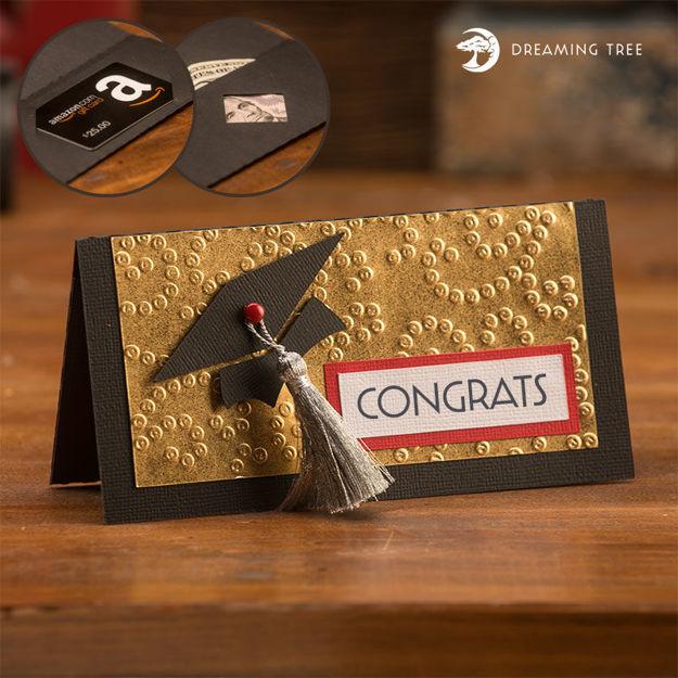 Graduation Money Gift Card Envelope (Free SVG)