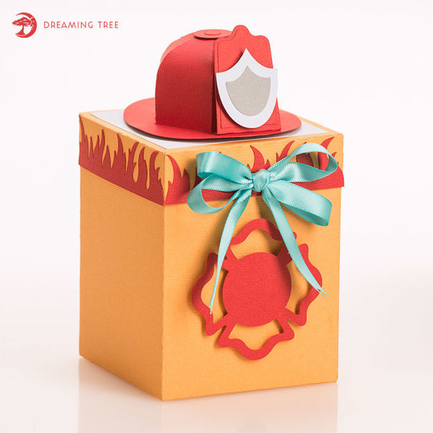 Picture of Fireman Gift Box SVG
