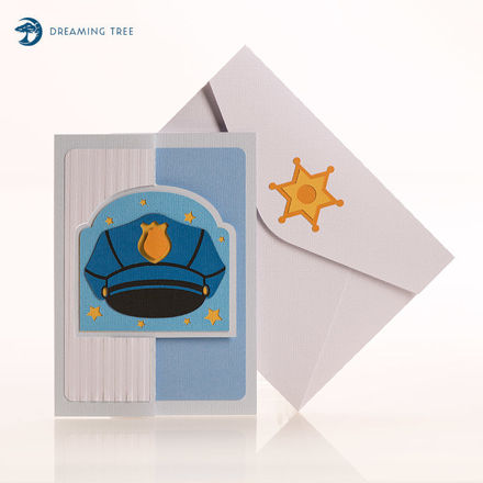 Picture of Police Flip Card SVG