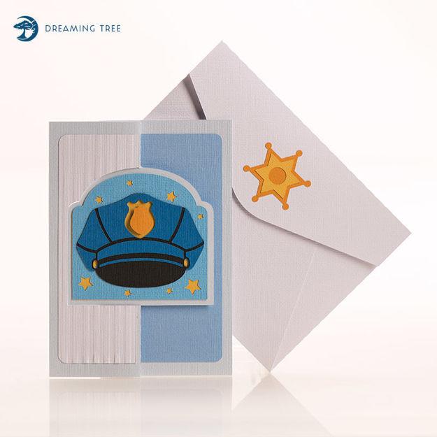 Police Flip Card SVG