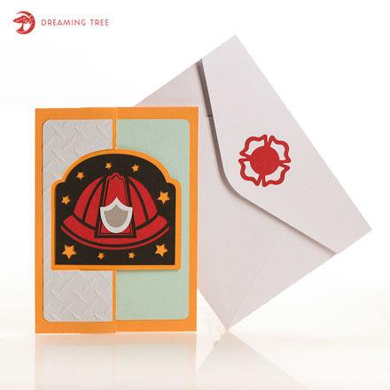 Picture of Fireman Flip Card SVG