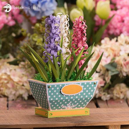 Hyacinth Planter 3D Flowers