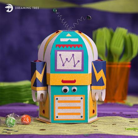 Robot Gift Box SVG
