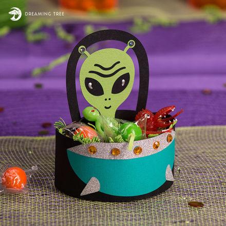 Picture of Alien Favor Basket SVG