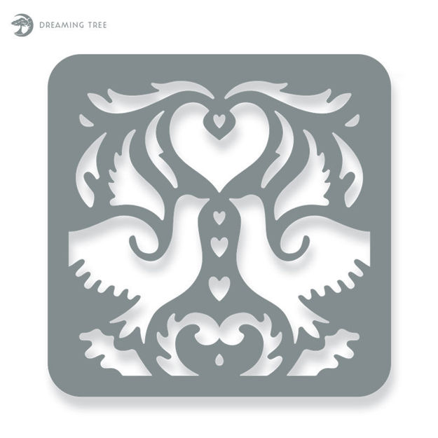 Picture of Love Doves (Free SVG)