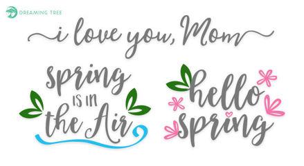 Spring Captions (Free SVG)