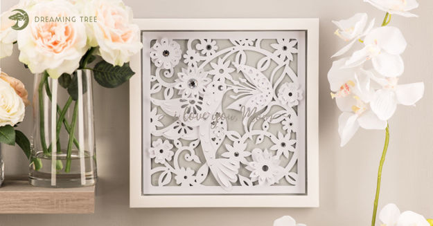 Hummingbird Paper Sculpture SVG