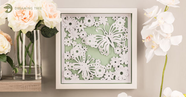 Picture of Butterfly Paper Sculpture SVG