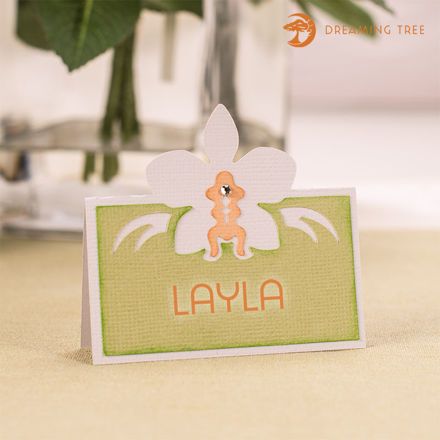 Orchid Place Card (Free SVG)