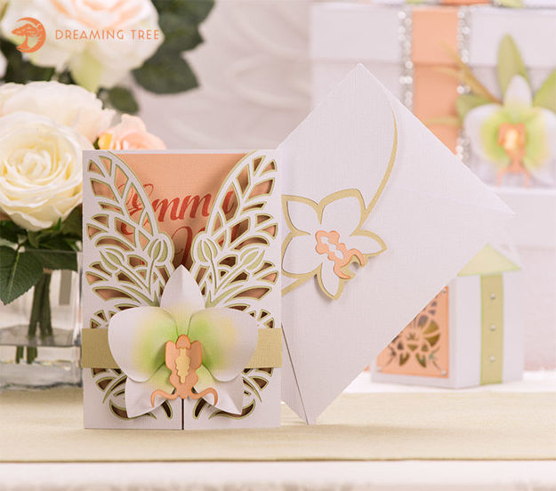 Picture of Orchid Gatefold Card SVG