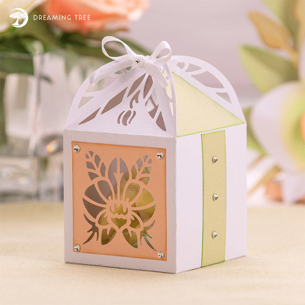 Picture of Orchid Favor Box SVG