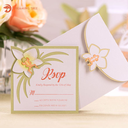 Picture of Orchid RSVP Card SVG
