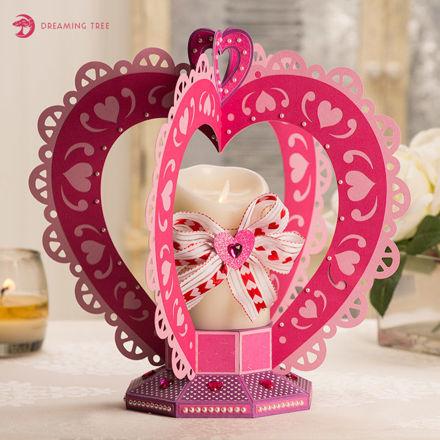Valentine Heart Centerpiece Luminary