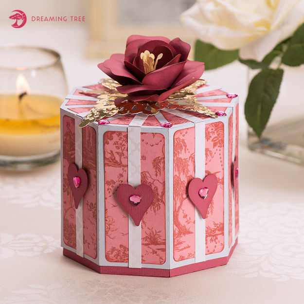 Valentine Rose And Heart Gift Box