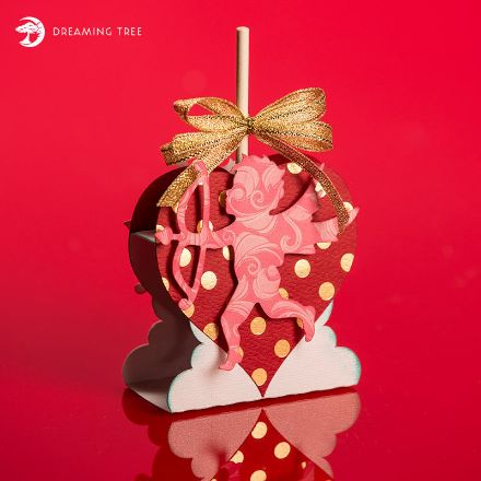 Free Heart And Cupid Tootsie Pop Holder