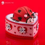 Picture of Love Bug Valentine Mailbox SVG