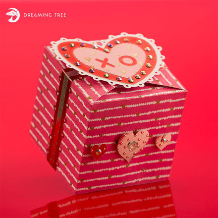 Picture of Valentine Candy Cookie Box SVG