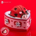 Valentine's Day Lady Bug Lady Bird Gift Box Card Holder