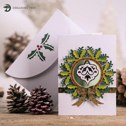 Good Tidings Christmas Wreath Card