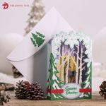 Winterscape Luminary Christmas Card