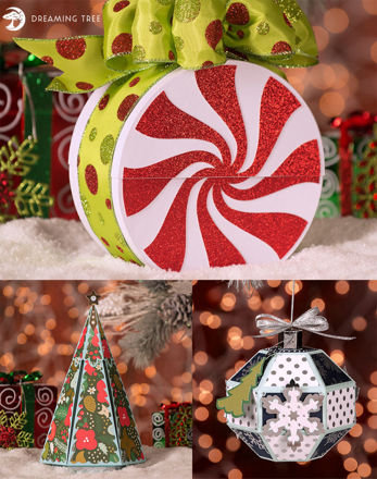 Picture of Merry and Bright Gift Boxes SVG Bundle