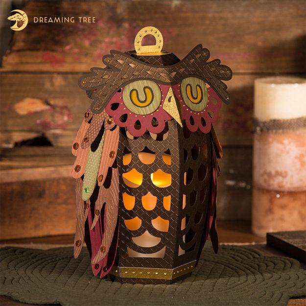Hoot Owl Lantern SVG