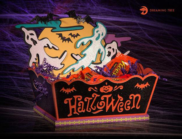Halloween Ghost Jack-O-Lantern Treat Box