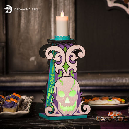 Skull Candle Holder SVG